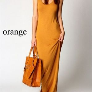 Dresses & Skirts - Mustard color Maxi dress